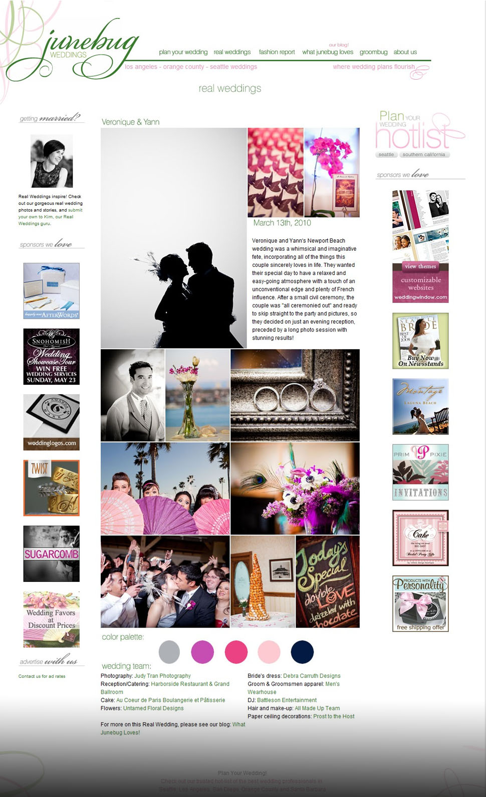 Judy & Gavin Photography Featured on JuneBug Weddings