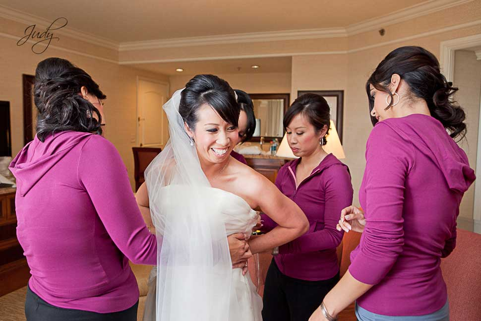 Huntington Hyatt Wedding Preparation