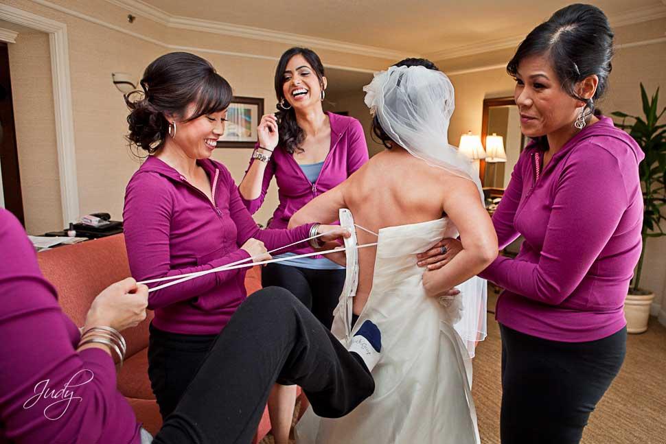 Huntington Hyatt Wedding Preparation