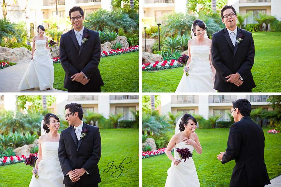 Huntington Hyatt Wedding First Look