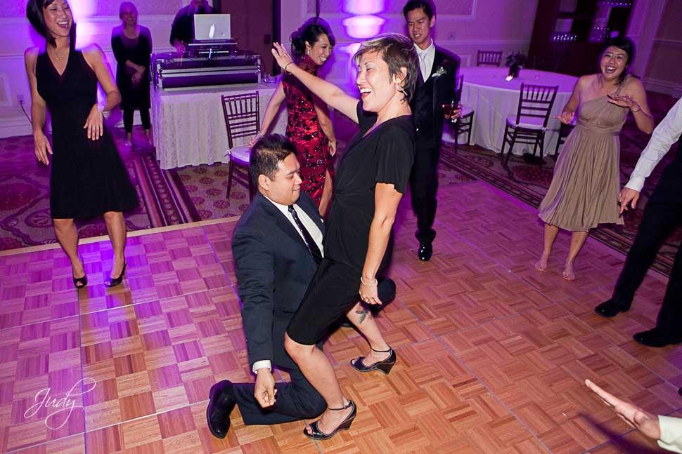 Huntington Hyatt wedding reception