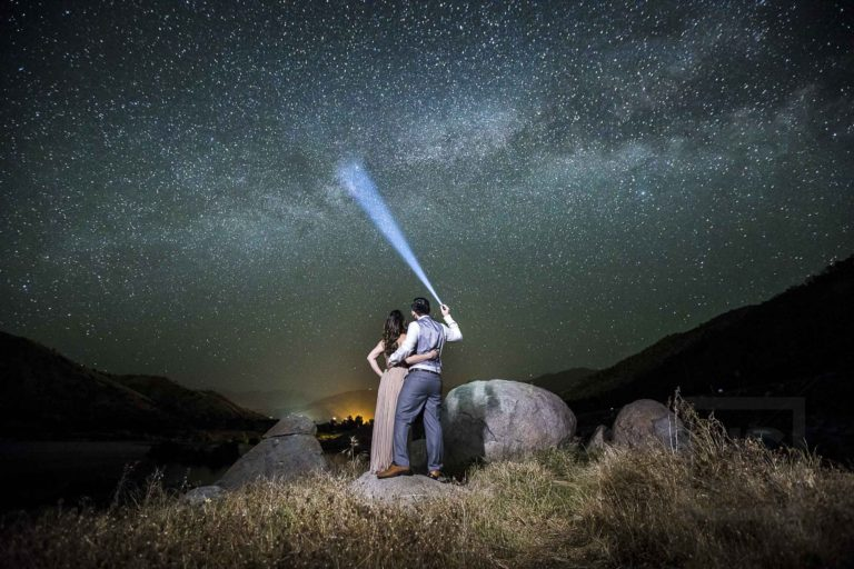 Milky Way Astrophotography in Sequoia! Engagement Photography with Stars | Nancy + Jon