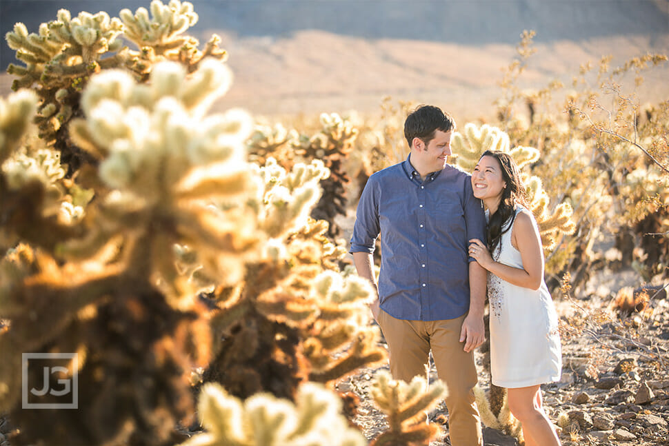 Engagement Photos with Cactus