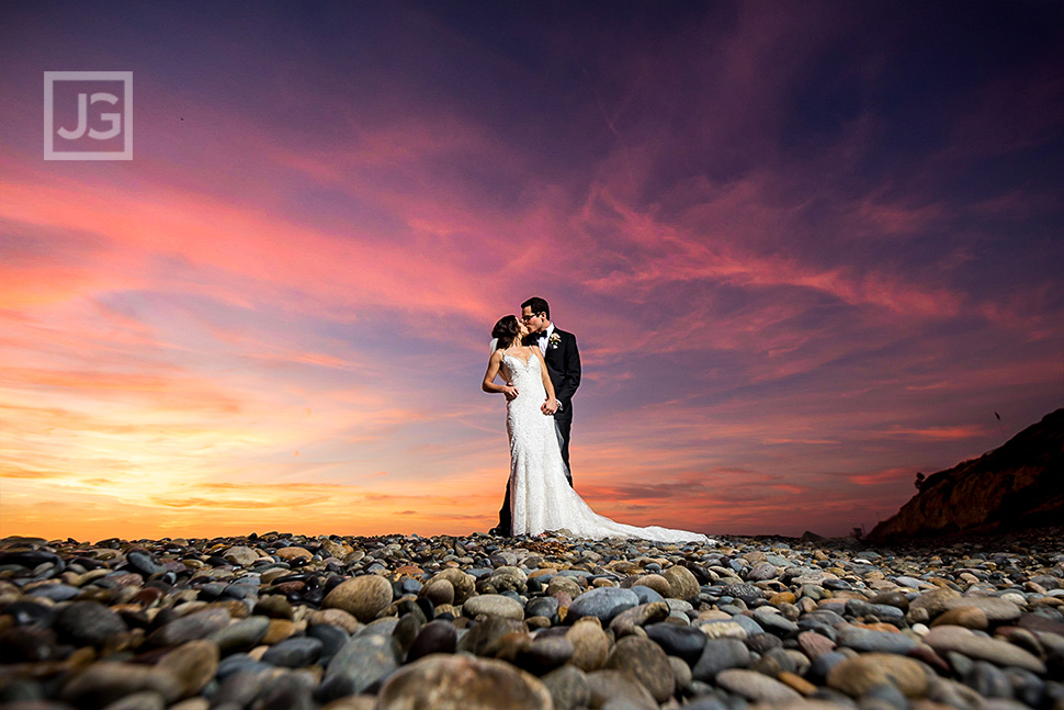 Cape Rey Sunset Wedding Photo