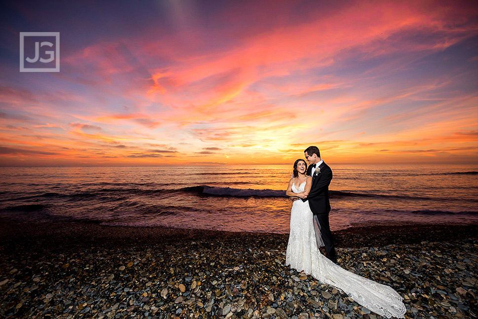 San Diego Sunset Wedding Photo