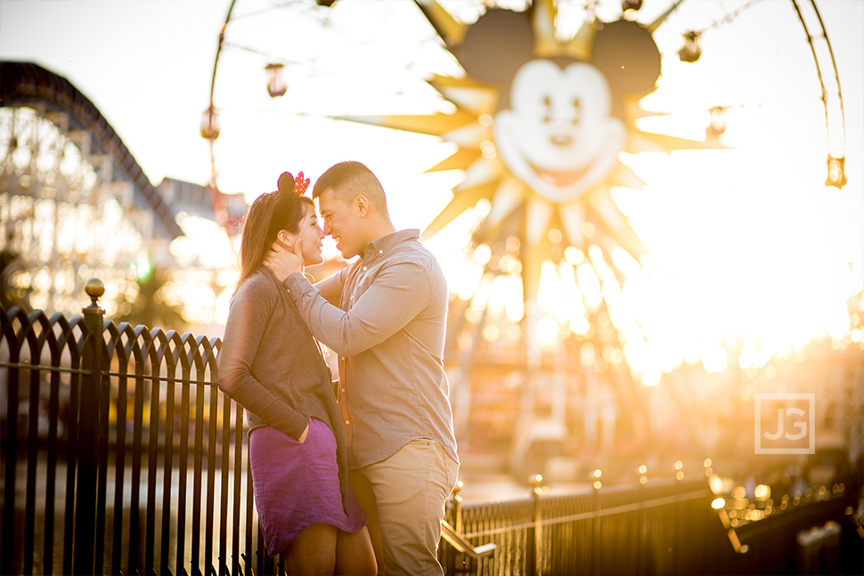 Disneyland Engagement Photography Ferris Wheel