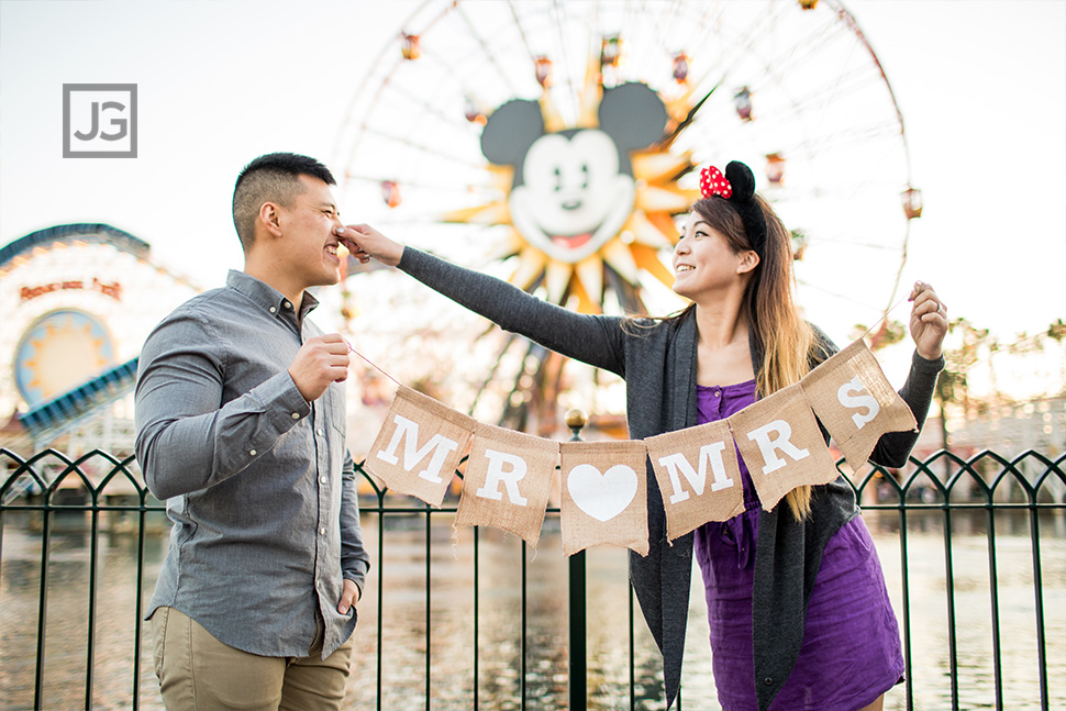 California Adventures Engagement Photography Pixar Pier