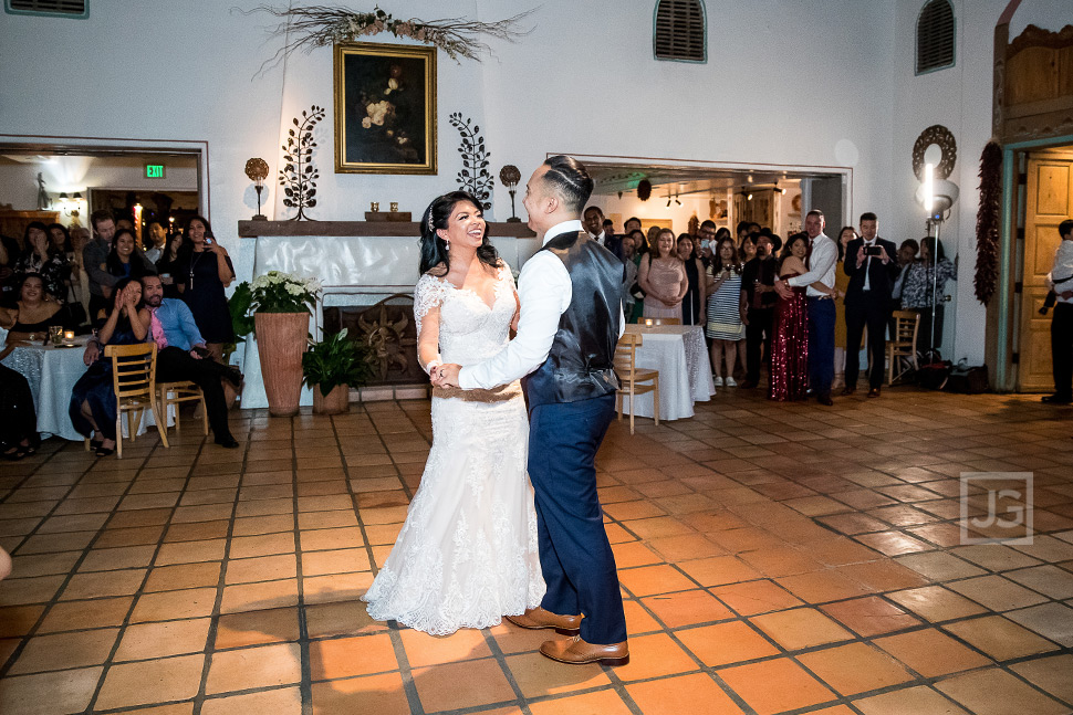 Hacienda Wedding Reception First Dance