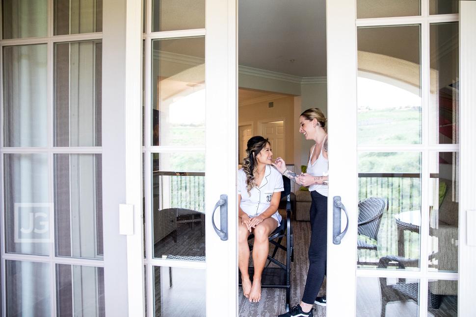 Marriott Newport Coast Villas Wedding Preparation