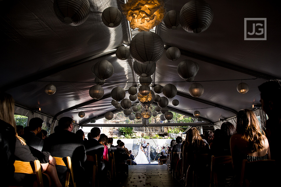 Seven Degrees Wedding Ceremony Tented