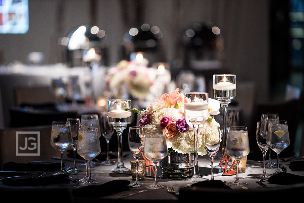Seven Degrees Wedding Reception Centerpieces
