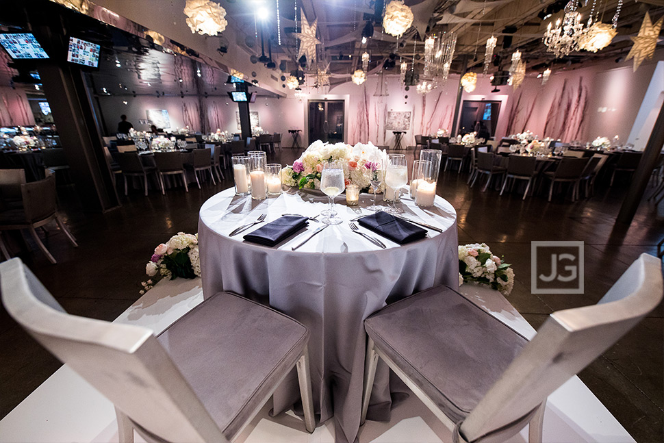 Seven Degrees Wedding Reception Bride and Groom Table