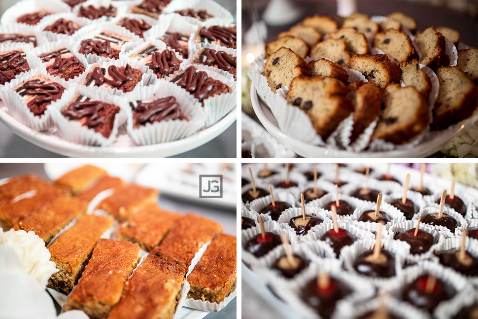 Seven Degrees Wedding Reception Dessert Bar
