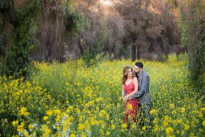 San Dimas Engagement Photography Flower Fields | Neda + Jabiz
