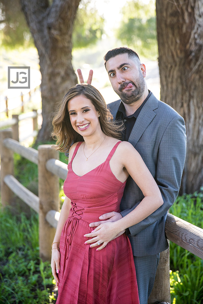 San Dimas Engagement Photography Silly and fun portrait