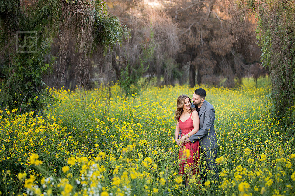 Engagement Photography Yellow Flowers