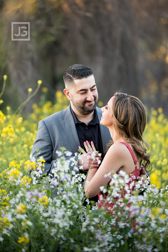 Engagement Photography Flower Field