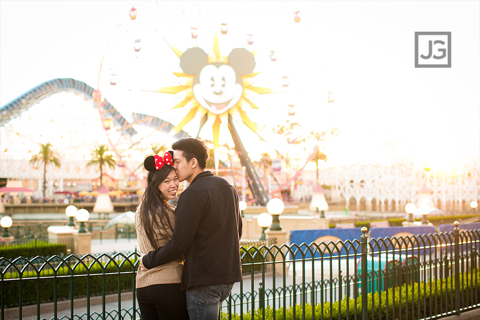 Ferris Wheel Engagement photos California Adventures