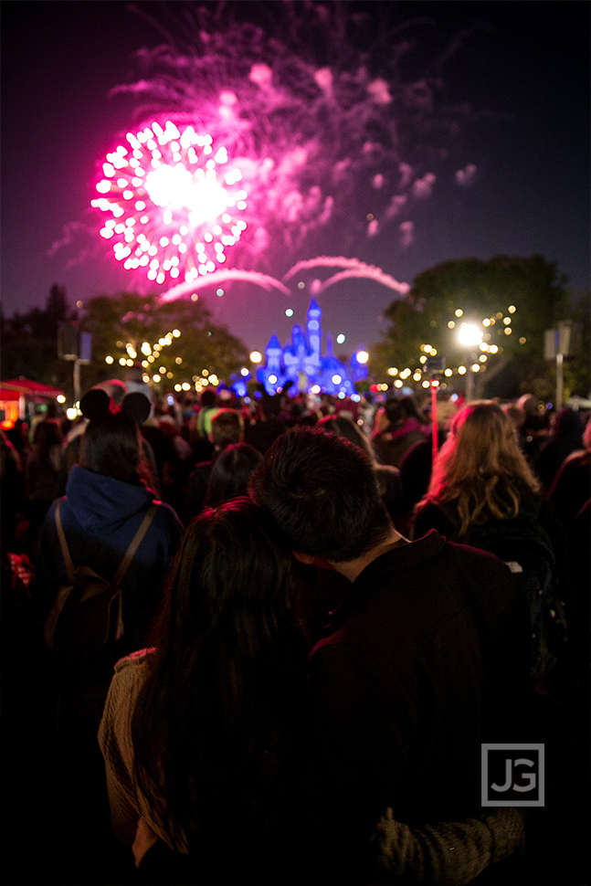 Disneyland Engagement Photos Fireworks