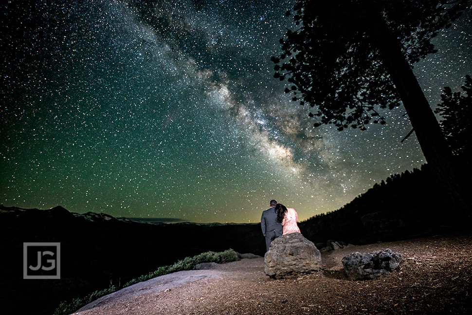 Astrophotography Engagement Photos Milky Way California