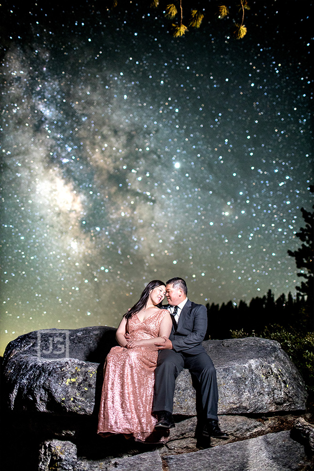 Engagement Photography with Milky Way