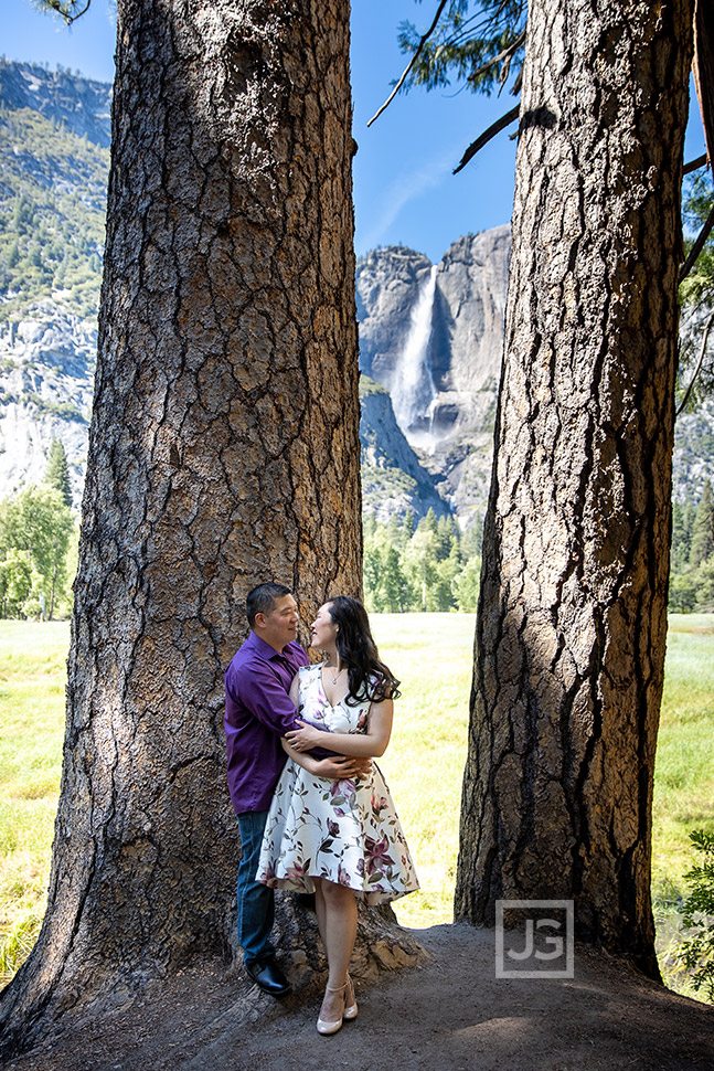 Yosemite Falls engagement photography