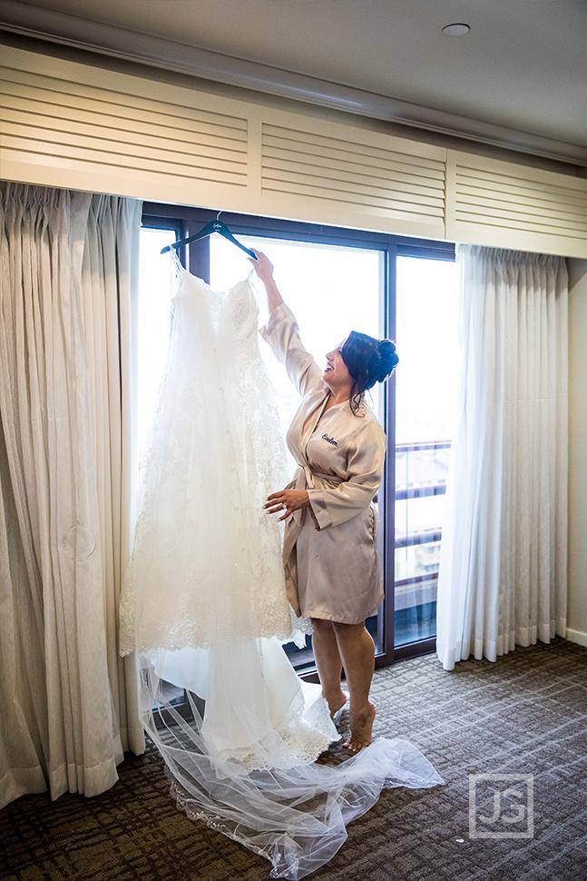 Marina Del Rey Mariott Wedding Dress