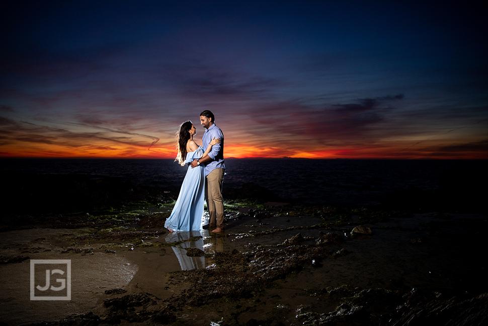 Blue Hour Engagement Photo