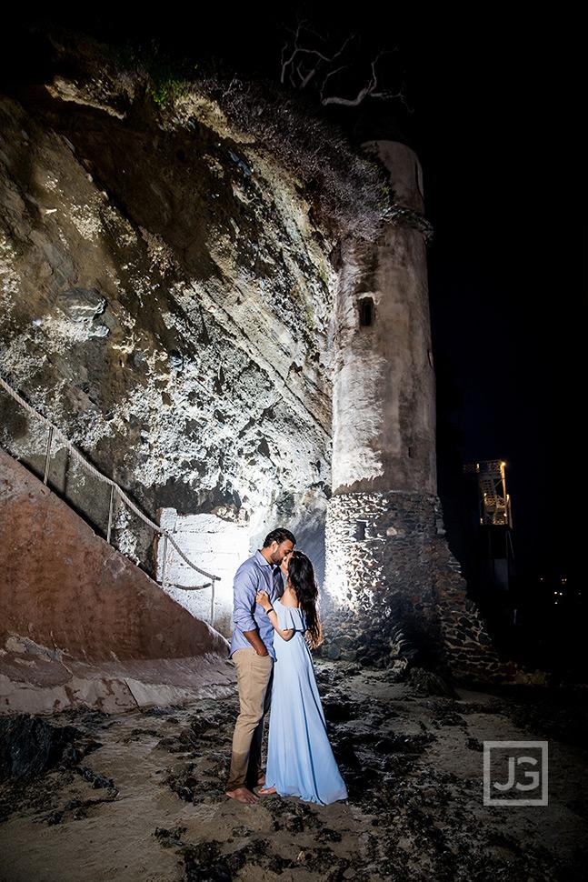 Pirates Tower Laguna Beach Engagement Photo