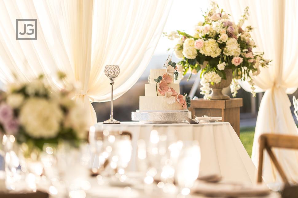 Dolphin Bay Resort Wedding Reception Cake