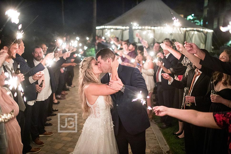 Pismo Beach Wedding Sparkler Sendoff