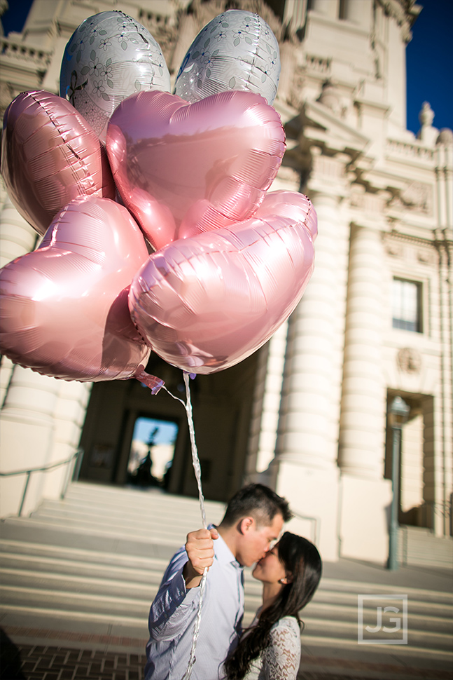 Pasadena City Hall Elopement Photo