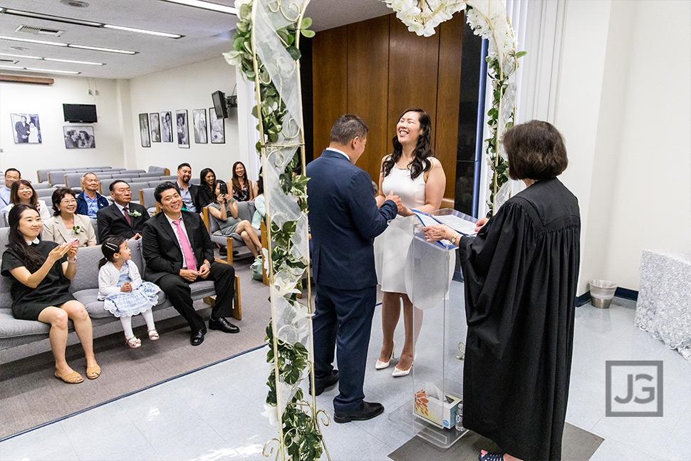 Beverly Hills Intimate Wedding Ceremony
