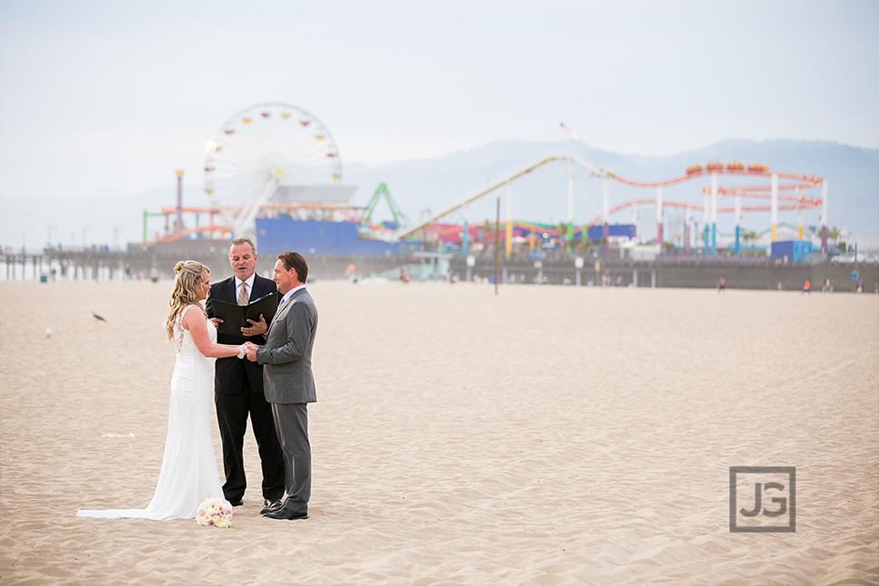 Santa Monica Pier Elopement Wedding Ceremony