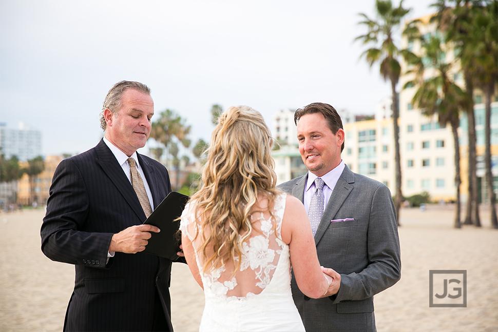 Santa Monica Beach Elopement Wedding Ceremony