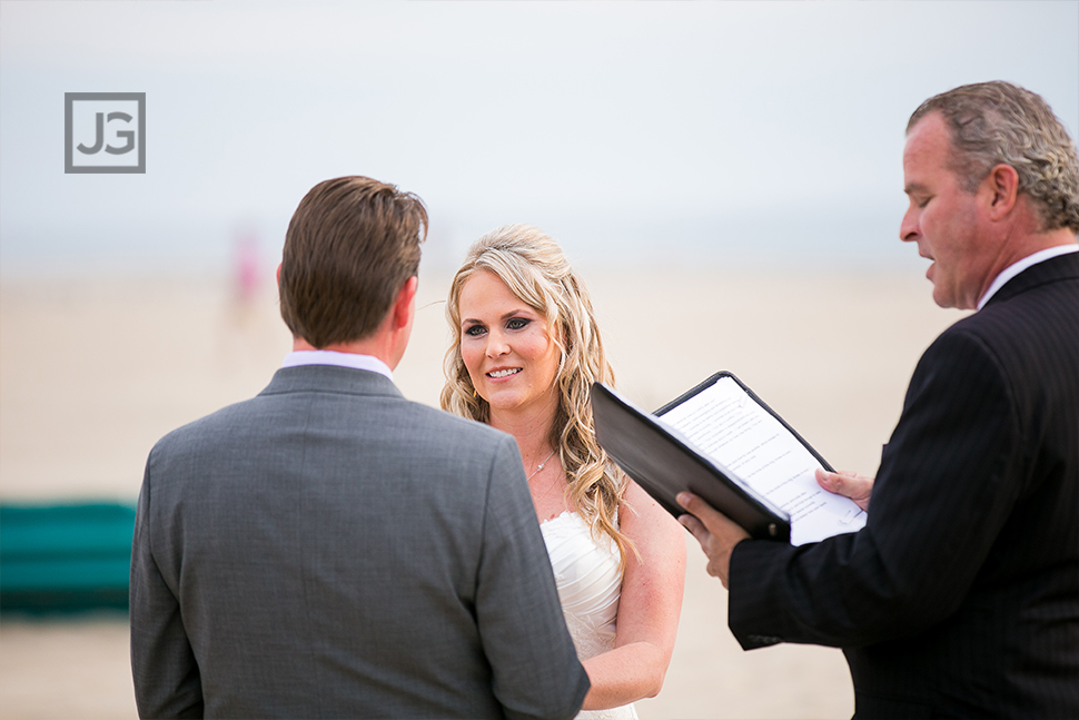 Santa Monica Beach Intimate Wedding Photography