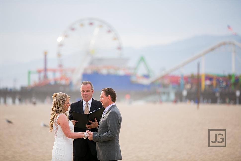 Santa Monica Beach Elopement Wedding