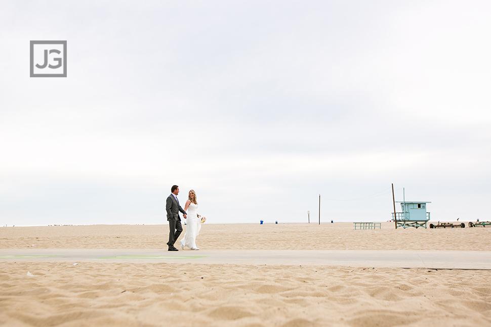 Santa Monica Elopement Wedding Photo