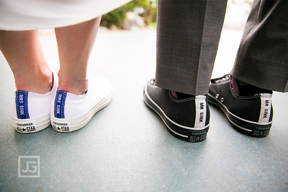 Santa Monica Elopement Wedding Photo Shoes