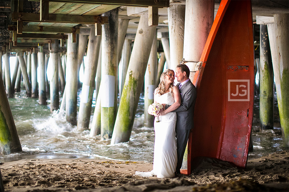 Santa Monica Pier Elopement Wedding Photo