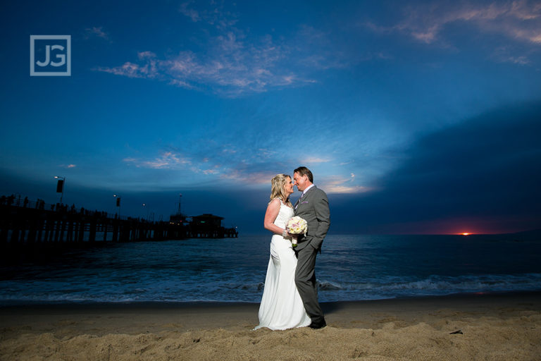 Santa Monica Beach Elopement Wedding Photography | Coree + Chris