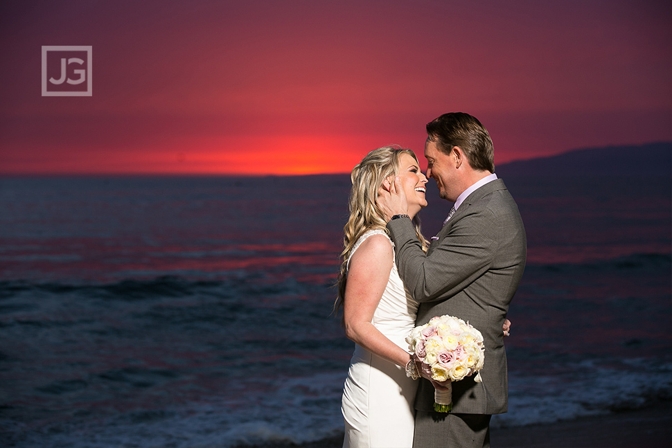 Santa Monica Beach Sunset Elopement Wedding Photography