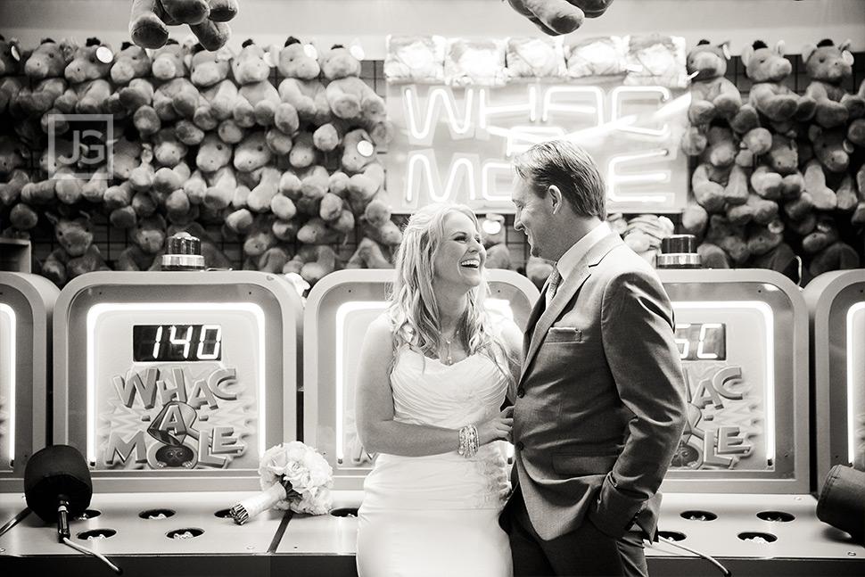 Santa Monica Pier Games Elopement Wedding