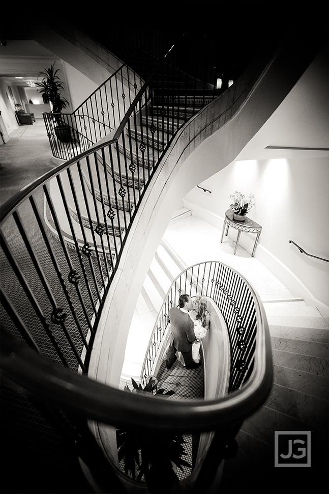 Casa Del Mar Staircase Elopement Wedding Photo
