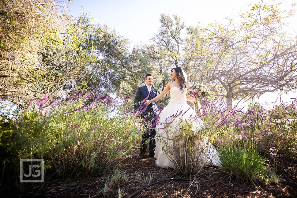 Padua Hills Theatre Wedding Photo with Flowers