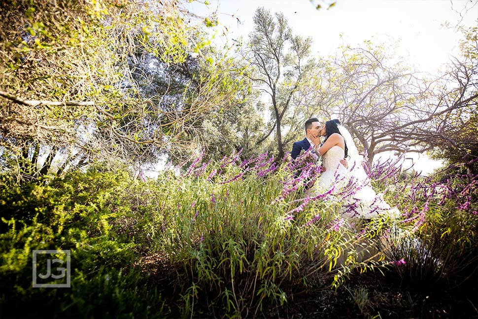 Padua Hills Theatre Wedding Photo with Flowers