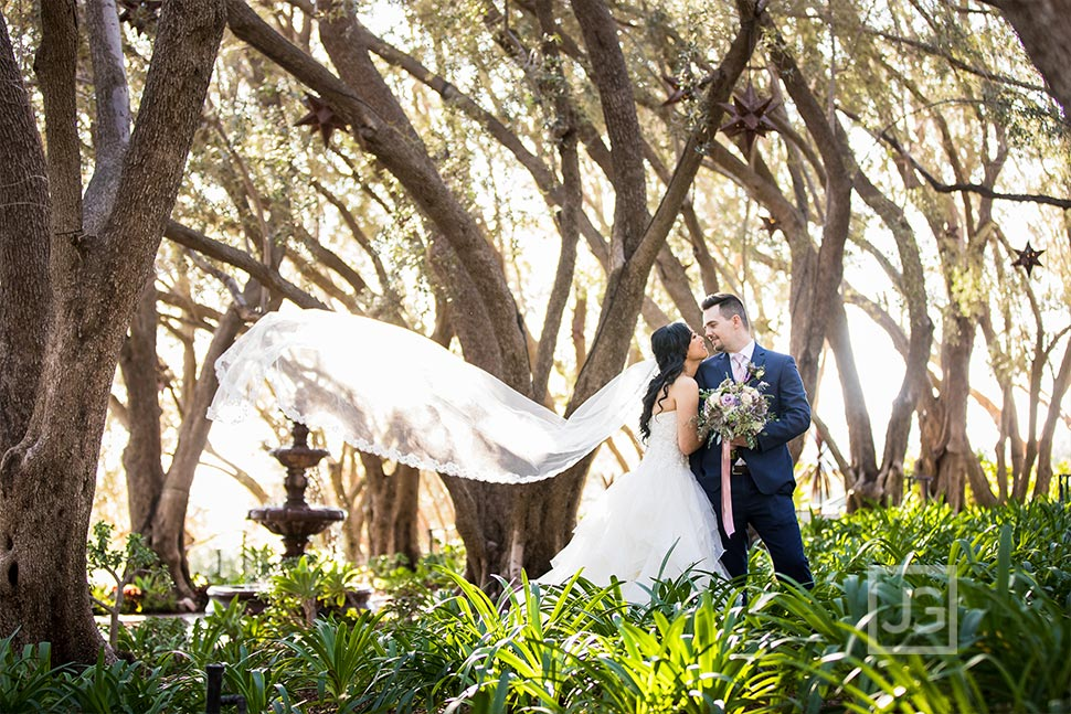 Padua Hills Theatre Wedding Photo with Fountain