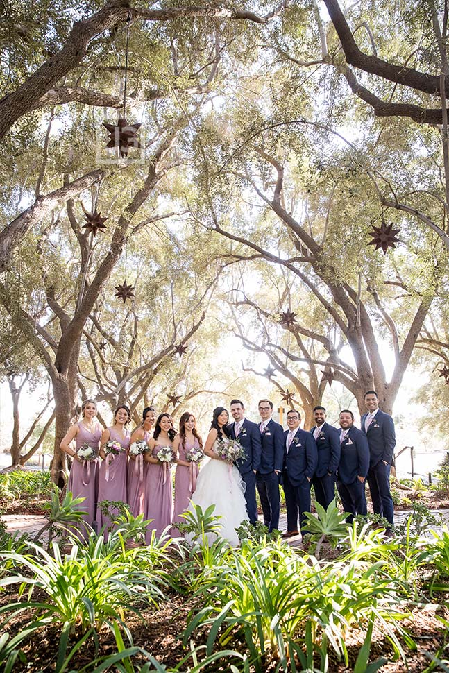 Padua Hills Theatre Wedding Party Photo