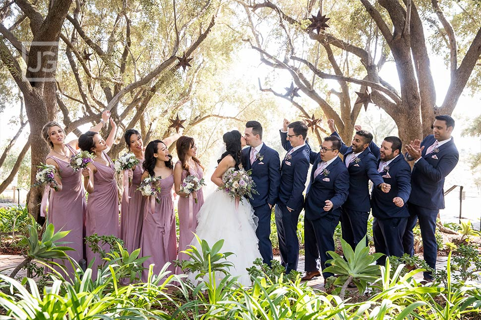 Padua Hills Theatre Bridal Party Photo