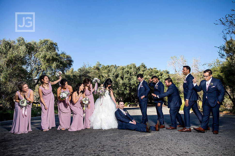 Padua Hills Theatre Funny Bridal Party Photo